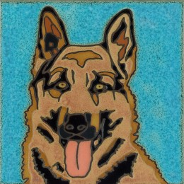 German Shepherd - Hand Painted Art Tile