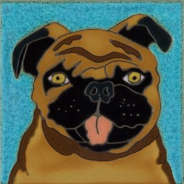Pug - Hand Painted Art Tile