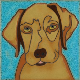 Golden Lab Pup - Hand Painted Art Tile