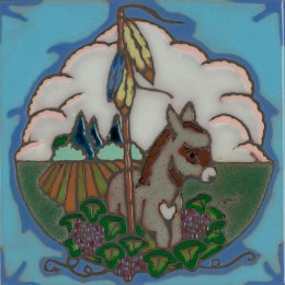 Donkey - Hand Painted Art Tile