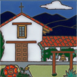 Sonoma Mission - Hand Painted Art Tile