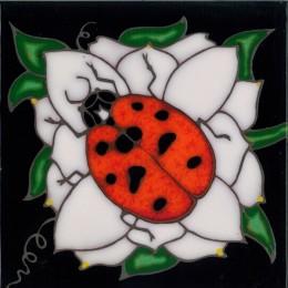 Ladybug - Hand Painted Art Tile