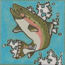 Rianbow Trout -Hand Painted Ceramic Tile