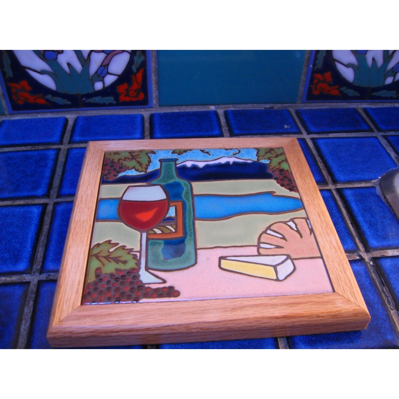 framed tile sample