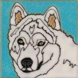 Samoyed - Hand Painted Art Tile