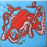 Octopus - Hand Painted Art Tile