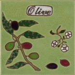 Olive - Hand Painted Art Tile