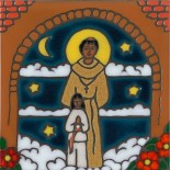 Father Serra - Hand Painted Art Tile