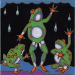 Frogs - Hand Painted Art Tile