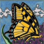 Swallowtail Butterfly - Hand Painted Art Tile