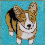Corgi - Hand Painted Art Tile