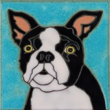 Boston Terrier - Hand Painted Art Tile