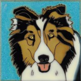 Blue Tri Colored Sheltie - Hand Painted Art Tile