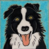 Border Collie - Hand Painted Art Tile