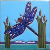 Dragonfly - Hand Painted Art Tile