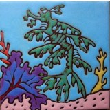 Leafy Sea Dragon - Hand Painted Art Tile