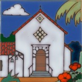 San Rafael Mission - Hand Painted Art Tile