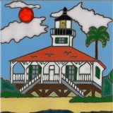 The Lighthouse Boca Grande - Hand Painted Art Tile