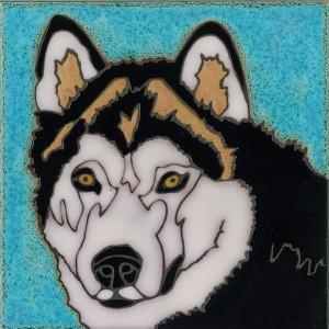 Alaskan Malamute - Hand Painted Art Tile