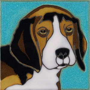 Beagle - Hand Painted Art Tile