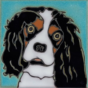 Cavalier King Charles Dog - Hand Painted Ceramic Tile
