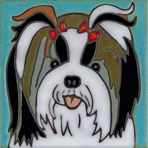 Shih-Tzu Dog - Hand Painted Ceramic Tile