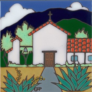 Soledad Mission - Hand Painted Art Tile