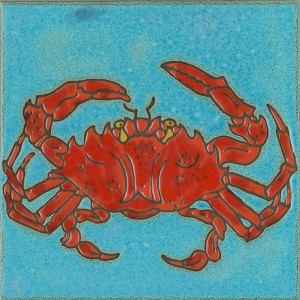 Red Crab - Hand Painted Art Tile