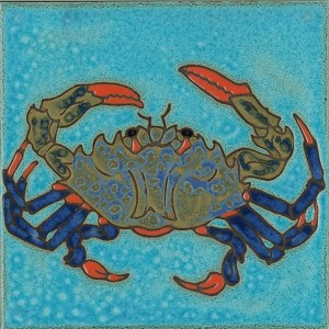 Blue Crab - Hand Painted Art Tile