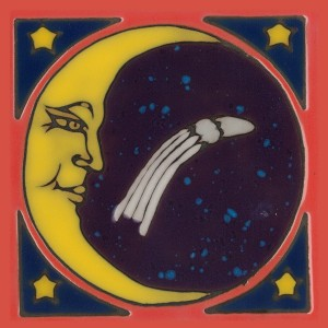 Moon - Hand Painted Art Tile