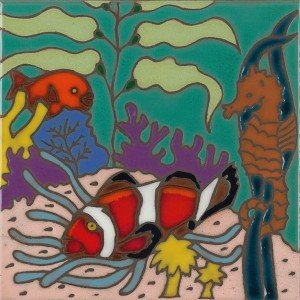 Coral Reef - Hand Painted Art Tile