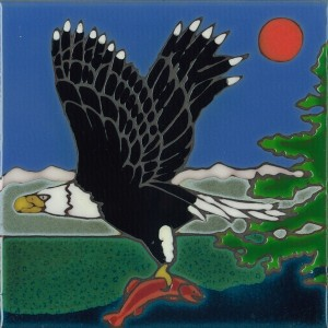 Bald Eagle - Hand Painted Art Tile