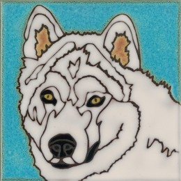 Samoyed - Hand Painted Art Tile