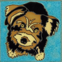 Yorkshire Terrier - Hand Painted Art Tile