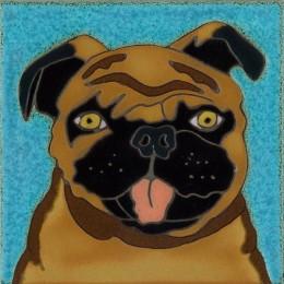 Pug - Hand Painted Art Tile