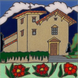 San Jose Mission - Hand Painted Art Tile