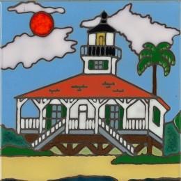 The Lighthouse Boca Grande - Hand Painted Art Tile