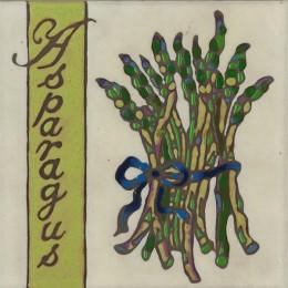Asparagus - Hand Painted Art Tile