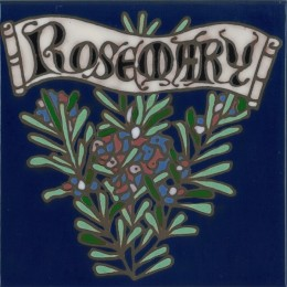 Rosemary - Hand Painted Art Tile