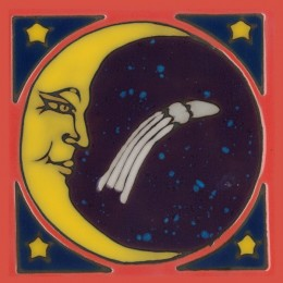 Moon - Hand Painted Art Tile