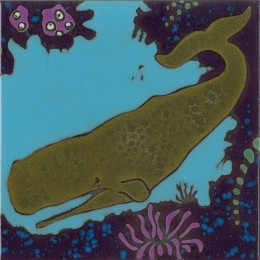 Sperm Whale - Hand Painted Art Tile