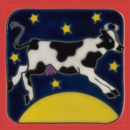 Cow - Hand Painted Art Tile