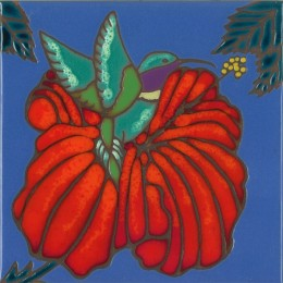 Hummingbird - Hand Painted Art Tile