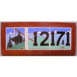 Address Plaque Custom Continuous Design Bear and Cub