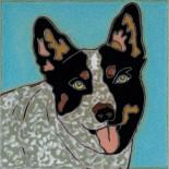 Queensland Heeler Dog - Hand Painted Ceramic Tile