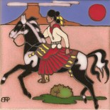 Navajo Lady on a Horse