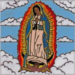 Our Lady of Guadalupe - Hand Painted Art Tile