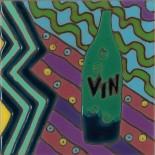 Vin - Hand Painted Art Tile