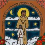 Father Serra - Hand Painted Art Tile
