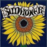 Sunflower - Hand Painted Art Tile